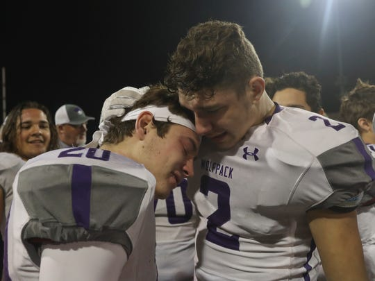 Shasta High School falls to Bishop Diego in the Division 3-AA State Championship game.