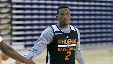 Phoenix Suns guard Eric Bledsoe (2) during their second day of  training camp at Northern Arizona University Wednesday, Sept. 30, 2015 in Flagstaff.
