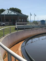 A portion of Burlington's main wastewater treatment