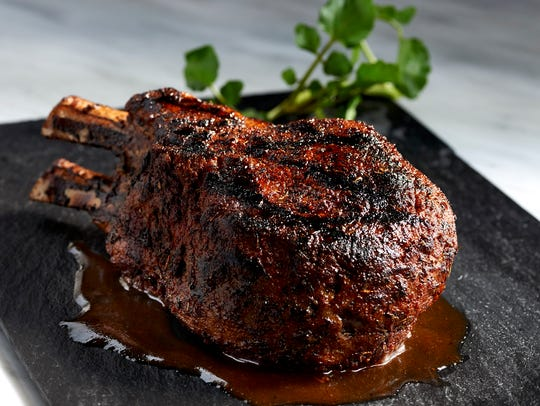 Morton's the Steakhouse double cut prime pork chop.