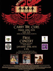 Poster for a free suicide awareness concert 6 p.m.