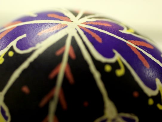 Pysanka requires a steady hand as a design is lightly