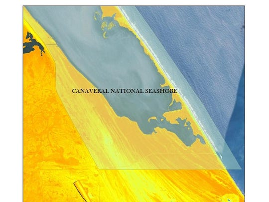 This map of the southern portions of Canaveral National Seashore uses LiDAR data created from flights in the summer of 2007 for the Florida Division of Emergency Management. LiDAR is akin to radar, measuring elevations with a laser and analyzing the reflected light.