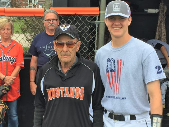 Military vet Digger O'Dell threw out the first pitch