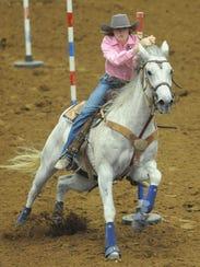Abilene's Hannah Hammond and her horse, Jenyus, compete