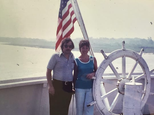 David and Pat Heese on vacation in 1973.
