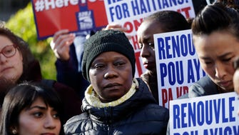 Immigration advocates rallied in New York on Tuesday to protest the Trump administration's decision to terminate temporary protected status for people from Haiti. The Department of Homeland Security said conditions in Haiti have improved significantly since the 2010 earthquake.