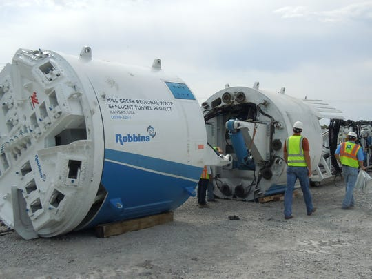 ReWa will use a tunnel boring machine similar to this one to dig a 100 feet deep gravity sewer tunnel in downtown Greenville.