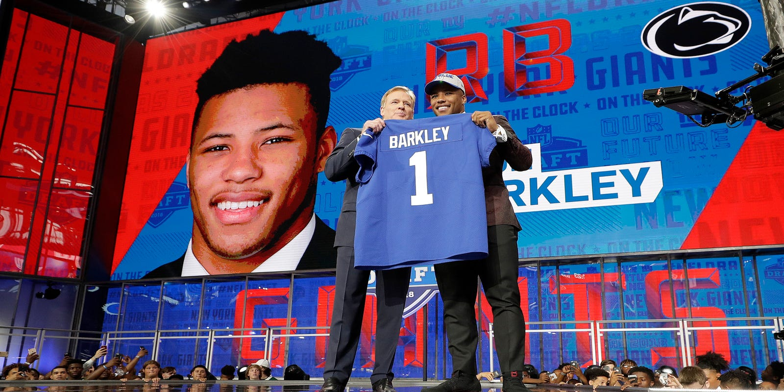 Saquon s the one at No. 2  NY Giants draft Penn State star RB Barkley 49def818f