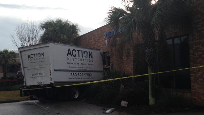 An Action Restoration truck crashed into the Center for Sight in Gulf Breeze.