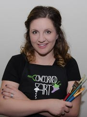 Owner and creator of Uncorked Art, Ashely Waltersheid,