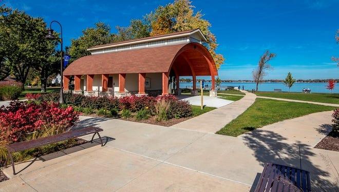 Novi's Pavilion Shore Park, on the south end of Walled Lake.
