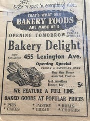 Ad from a neighborhood newspaper in April 1950 for