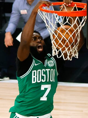 """""""Yeah, it definitely is (a mental challenge playing),'' Jaylen Brown said after practice Saturday. """"But it's a challenge I willingly signed up for."""""""