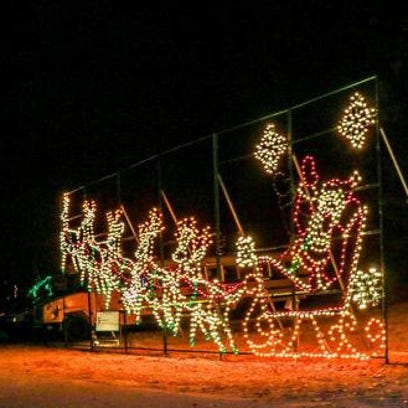 Holiday lights displays are going on around the Upstate.