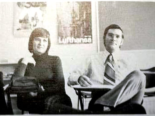 This photo provided by former Tehran American School student Mark Turnage shows part of a page about student organizations in the school's 1973 yearbook with a photo of William James Vahey, right, who taught at the school from 1972-1973. Vahey was one of the most beloved teachers in the world of international schools that serve the children of diplomats, well-off Americans and local elites. That was Vahey's public persona until a maid stole a memory drive from him in November. On it was evidence that Vahey molested scores of adolescent boys, possibly more.
