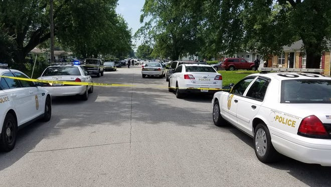 Two people were shot and killed on the north side of Indianapolis, Wednesday, July 12, 2017.