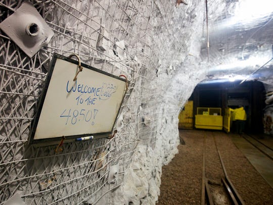 A sign welcomes visitors to the Sanford Underground