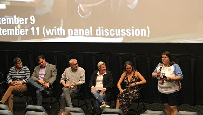 """A panel discussion was held at the Robinson Film Center Monday night about the film """"Handsome Devil."""" Participating were Maribeth Forrest, Hunter Coleman, Michael Freeman, Shelley McMillian and Ali Aaron. It was conducted by Samantha Ortiz."""