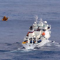 Photos: Dramatic rescue of cruise ship passenger injured by seal