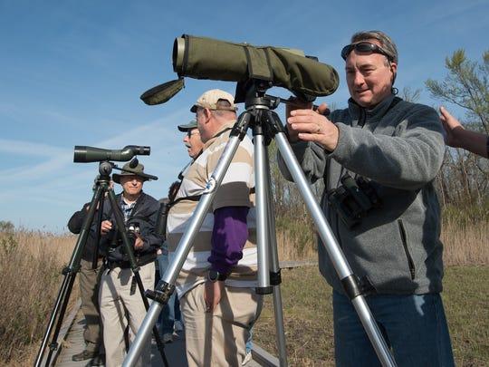 Chris Bennett, a guide at the Delmarva Birding Weekend