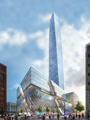 Businessman Dan Gilbert has proposed building Detroit's tallest building on the site of the old Hudson's store.
