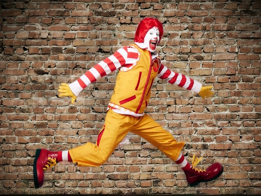 The new look for Ronald McDonald.