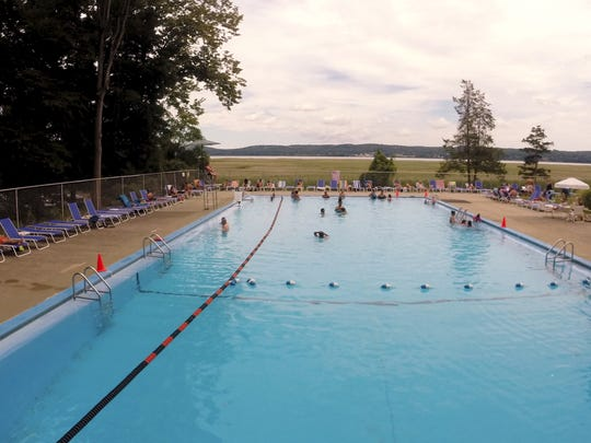 The main pool at the Tallman Pool and Beach Club Aug.