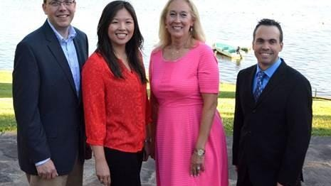 From left, Central Hudson employees Eric Kiszkiel, Karen Lo, Donna Medici and Barry Henck were recognized for their civic engagement at the utility's 27th annual Community Service Awards. Gary Cassaro, not pictured, was also recognized.