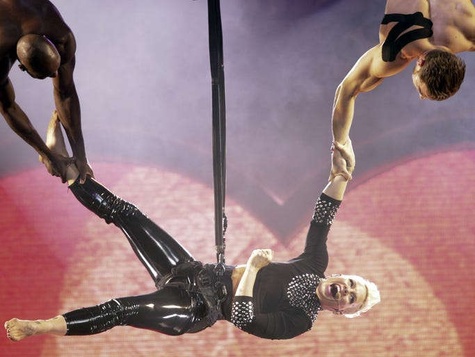 Pink performs at Bankers Life Fieldhouse, Indianapolis, Thursday, November 21, 2013.