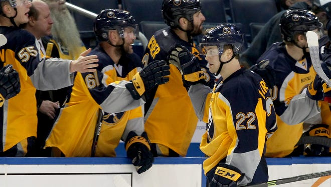 The Sabres' Johan Larsson has seven points in his last eight games.
