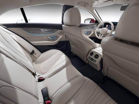 The rear seat of the 2019 Mercedes-Benz CLS450.