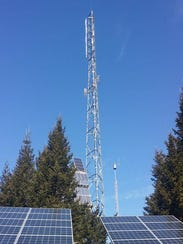 This radio tower at Clingmans Dome in Great Smoky Mountains