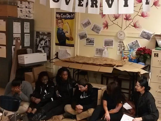 Linden High School students, the Great Depression Lesson