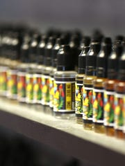 Juices on display in Central City Vapors on Central