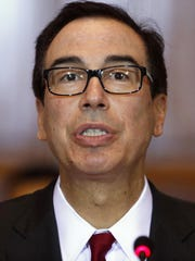 Treasury Secretary Steven Mnuchin told a House panel