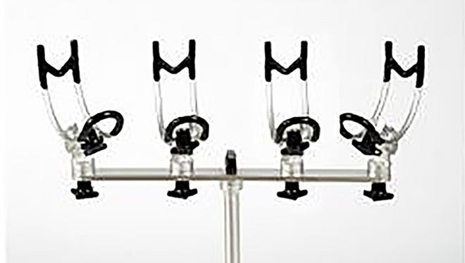 Syderloc rod holders offer adjustments without tools and flush-mount plates allow the entire unit to be removed from a boat when not in use.