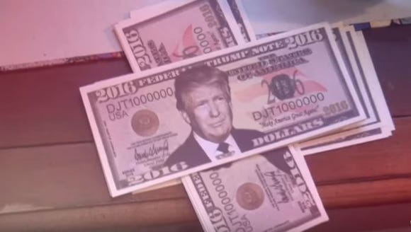 """A screenshot of a music video for """"Trumpified,"""" by"""