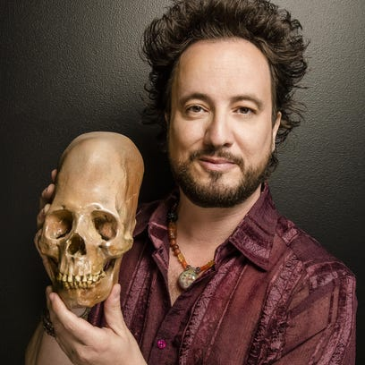 "Georgio A. Tsoukalos, star of ""Ancient Aliens,"" will"