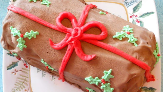 The Hop Ice Cream Cafe now has ice cream Yule Logs for sale.