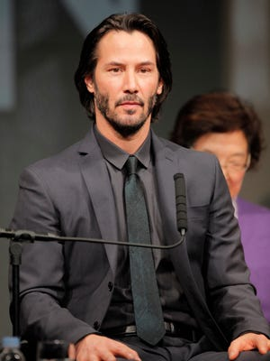"""Keanu Reeves, shown last month in Tokyo, is also in  """"47 Ronin,"""" opening Christmas Day."""