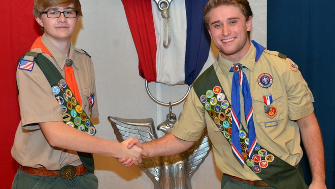 Ryan Weiss (left) and Jack Lawler were honored with the rank of Eagle Scout at Troop 263's recent Court of Honor.