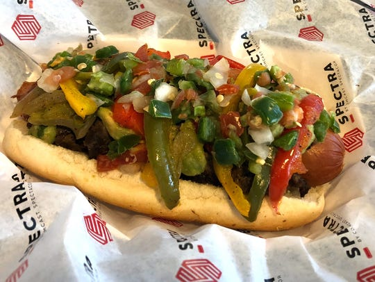Feast your eyes on the fajita dog, a hot dog topped