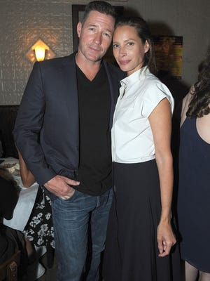 Edward Burns and his better half, Christy Turlington.