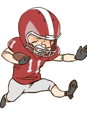 Football player logo