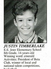 Justin Timberlake from 1995 spelling bee program.