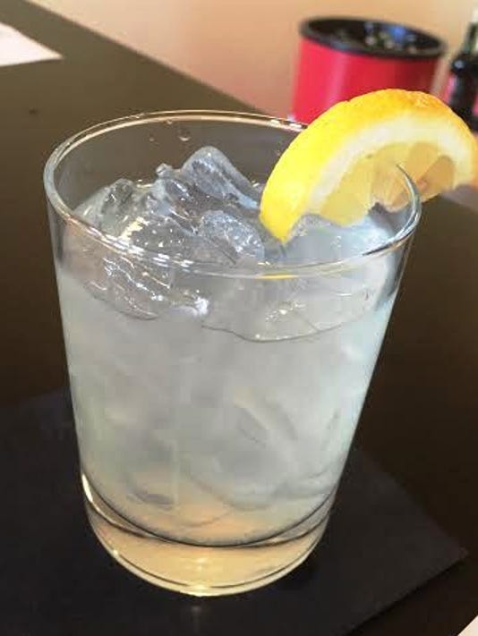 The Lebonade cocktail served at happy hour Friday night.