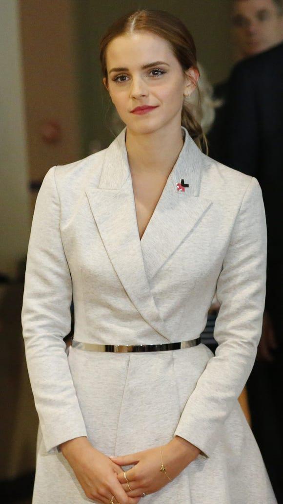 UN Women Goodwill Ambassador Emma Watson attends the