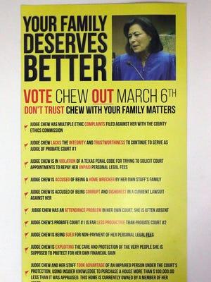 Probate Court election flyer