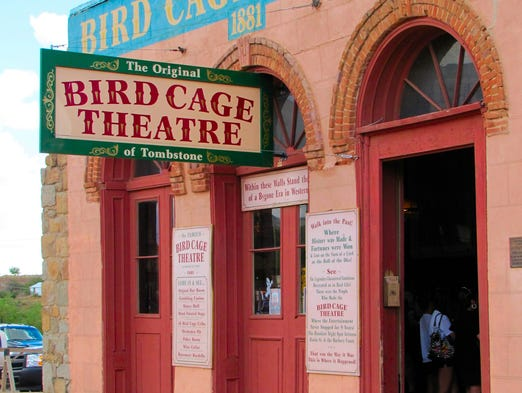 The Bird Cage in Tombstone was a combination theater, saloon, gambling hall and brothel. It was sealed up in 1889. Today it's a museum.
